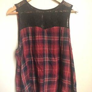 Maurices flannel tank